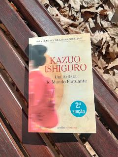 Imagem da capa do livro de Kazuo Ishiguro, Um Artista do Mundo Flutuante, pela Gradiva, em recensão no blogue Clube de Leituras
