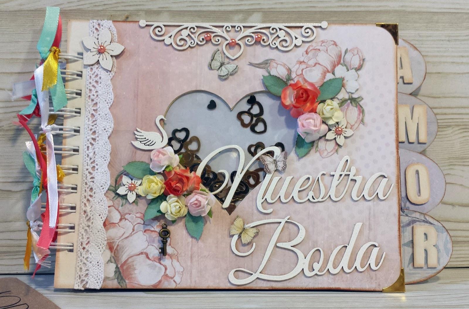 El caracol verde lbum de boda alterado de kora projects - Decorar album de fotos ...