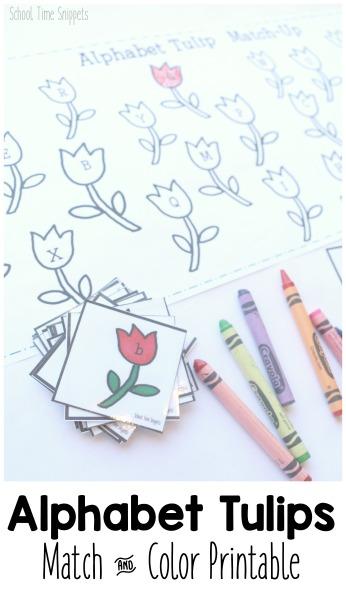 alphabet matching worksheet