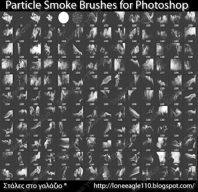 Particle Smoke Brushes for Photoshop