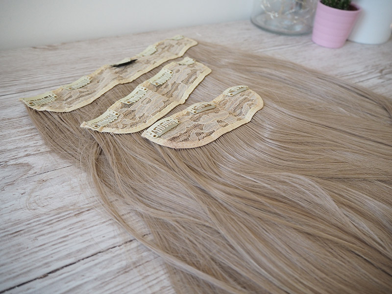 KOKO couture hair extensions california blonde chiara 3 weft