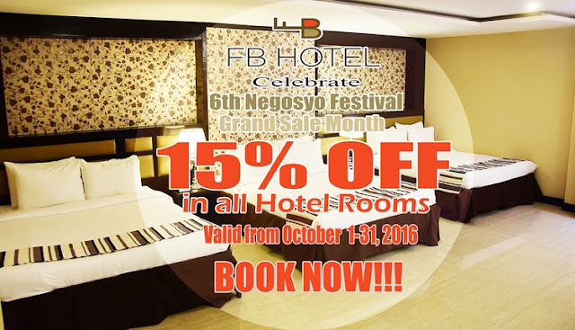 FB Hotel offers BIG discounts in hotel rooms this October!