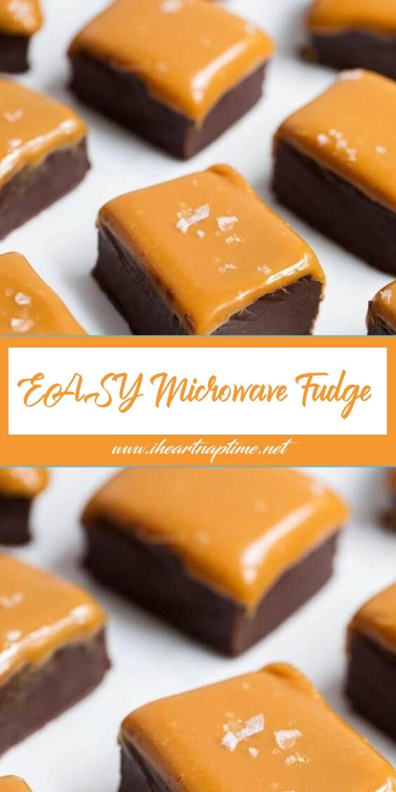EASY Microwave Fudge (only 3 ingredients)