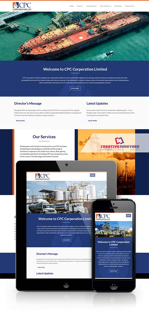 oil and gas industry website design