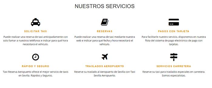 servicios taxi sevilla