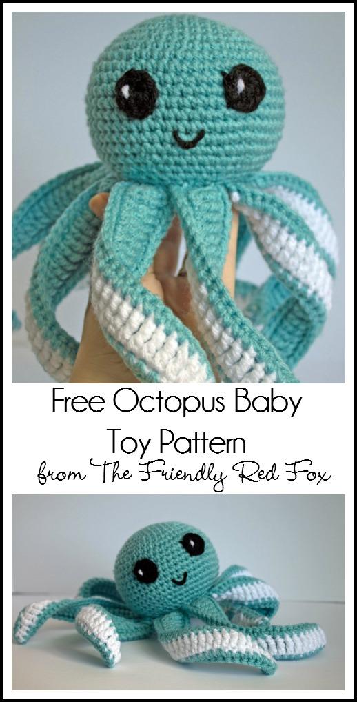 Amigurumi Octopus Baby Toy Free Pattern Part 2 Thefriendlyredfox