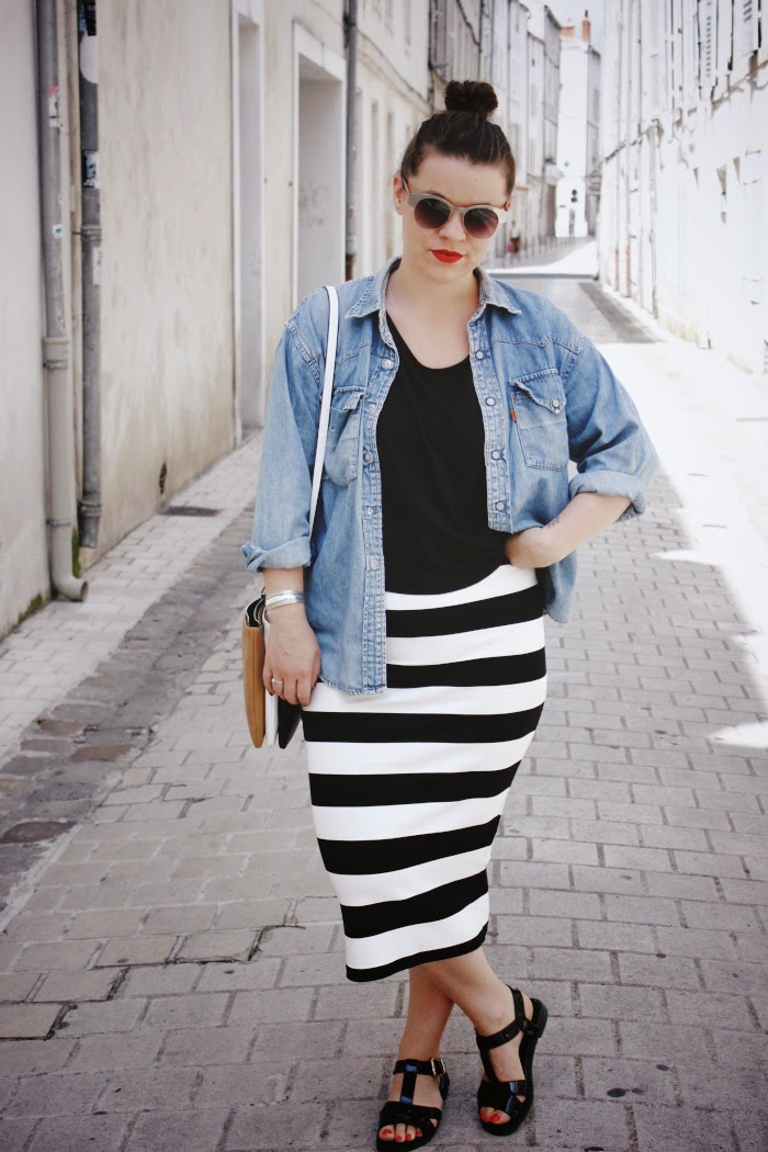 lucieandvenus blog mode et lifestyle la rochelle ma jupe crayon pimkie x zanita who. Black Bedroom Furniture Sets. Home Design Ideas