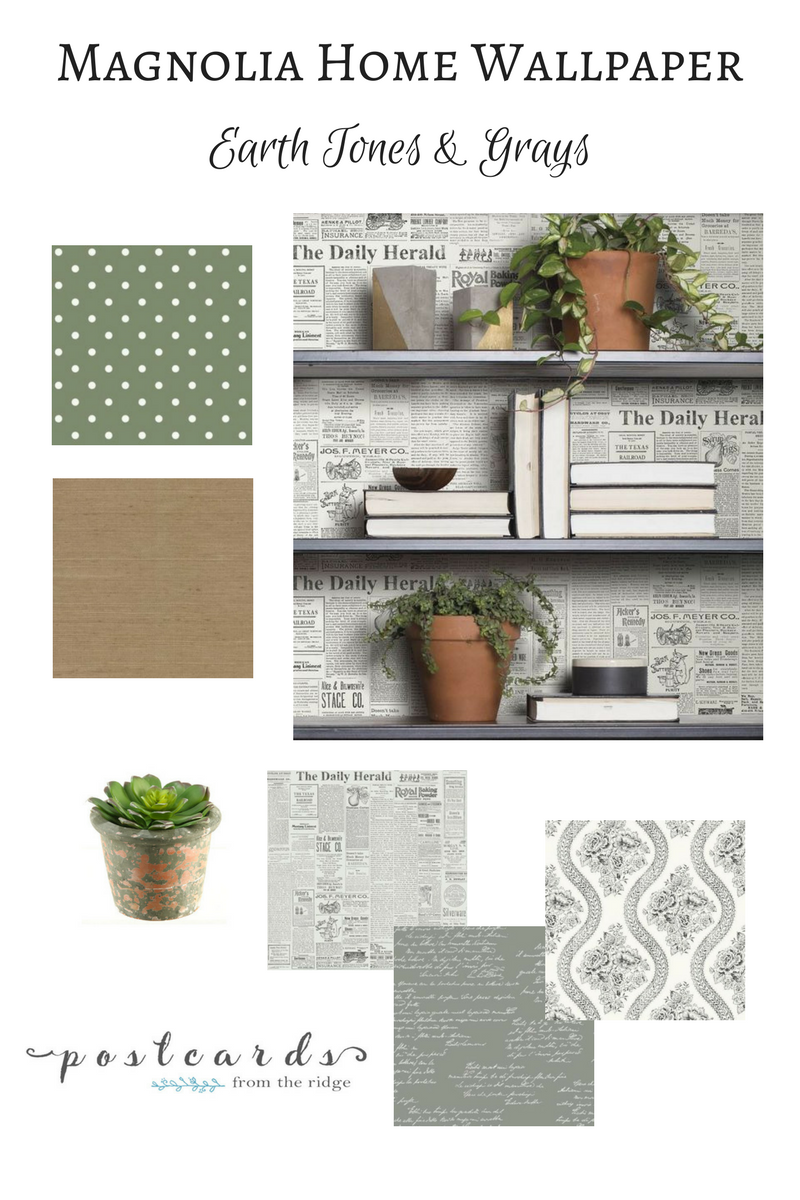 newsprint wallpaper joanna gaines magnolia home farmhouse decor
