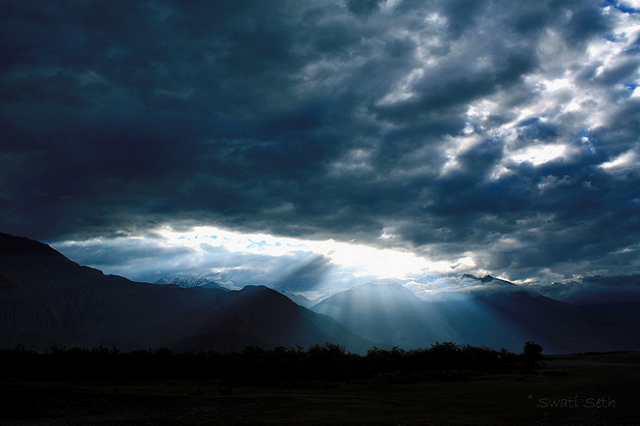 Sunrise view at Nubra Valley