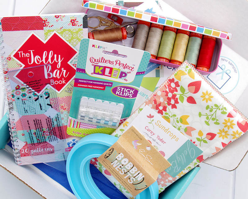August 2016 Sew Sampler Box from the Fat Quarter Shop