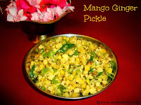 images for Mango Ginger Pickle Recipe / Maa Inji Pickle / Mangai Inji Urukai Recipe / Ma Inji Pickle Recipe