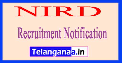 National Institute of Rural Development and Panchayati Raj NIRD Recruitment Notification 2017