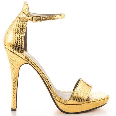 como hacer zapatos dorados