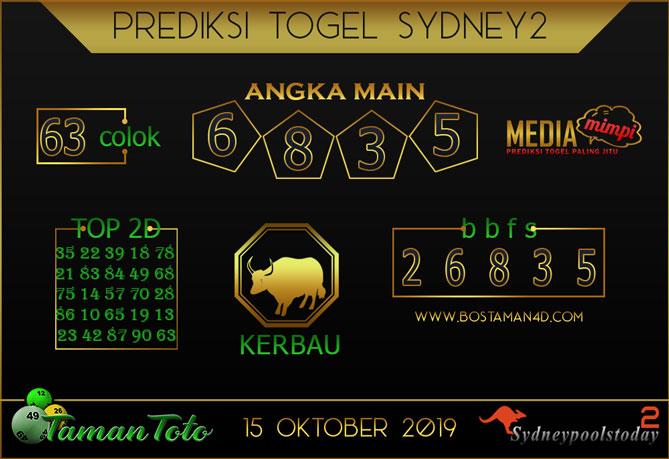 Prediksi Togel SYDNEY 2 TAMAN TOTO 15 OKTOBER 2019