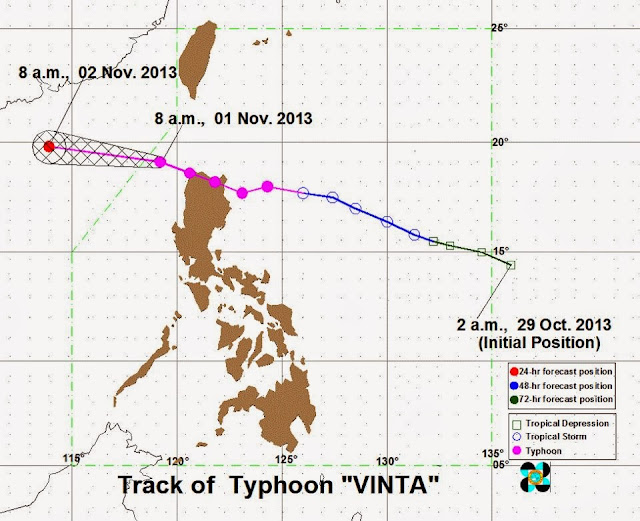 Typhoon Vinta Update Track Today