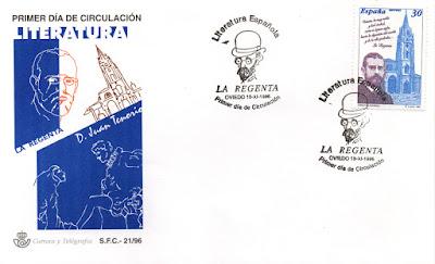 Sobre PDC sello dedicado a la Regenta