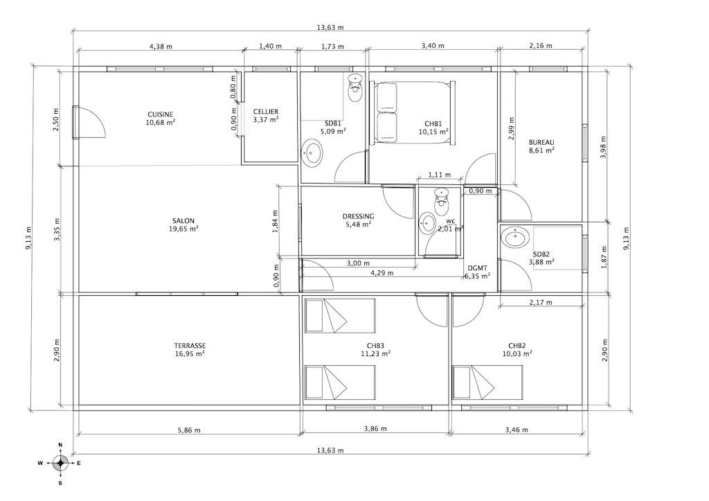 plan maison karesol