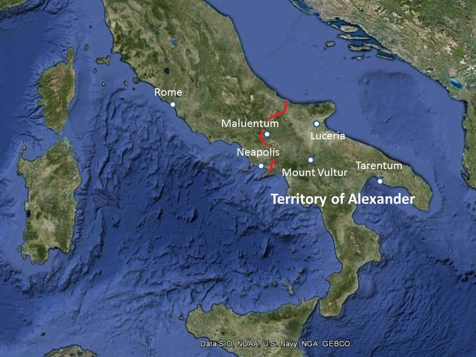 Tarentum Italy Map.Mike Anderson S Ancient History Blog Alexander The Great What If
