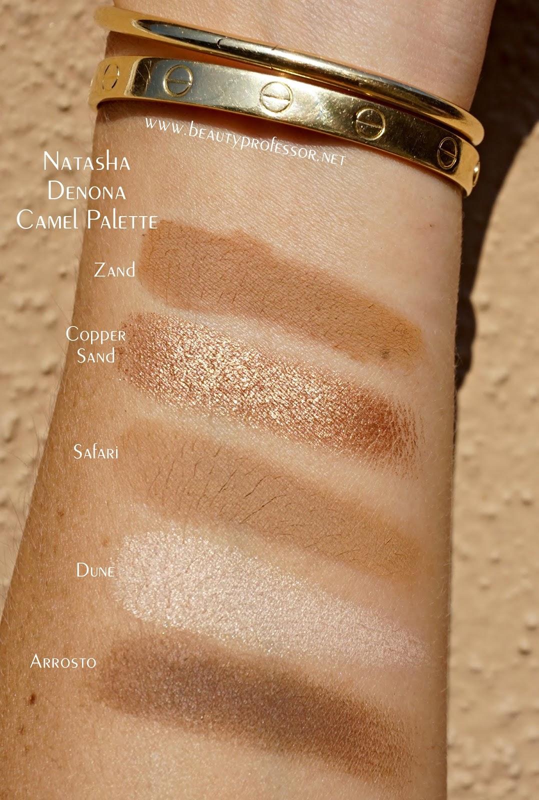 natasha denona camel palette swatches