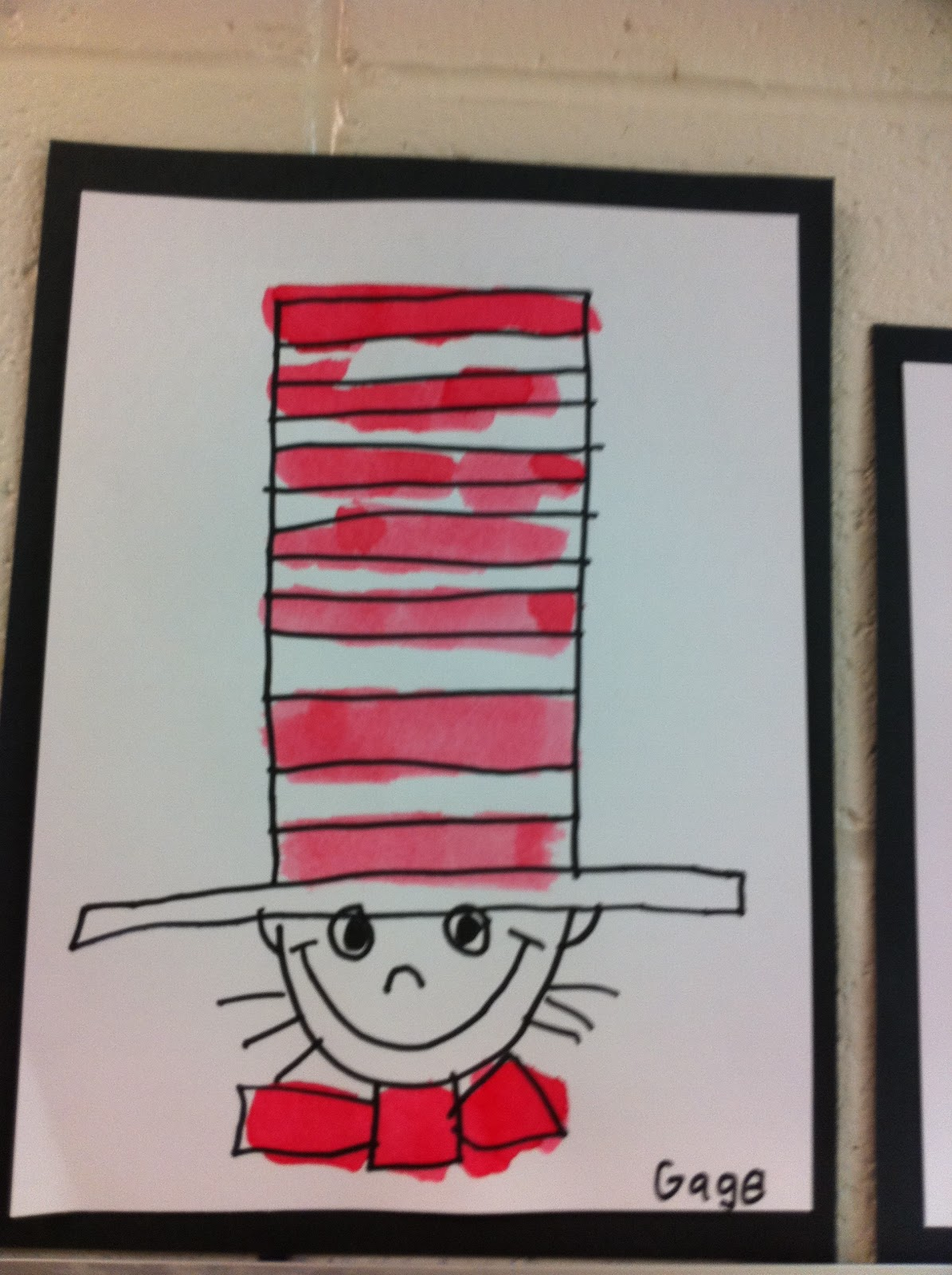 This is a picture of Sweet Drawing Cat In The Hat