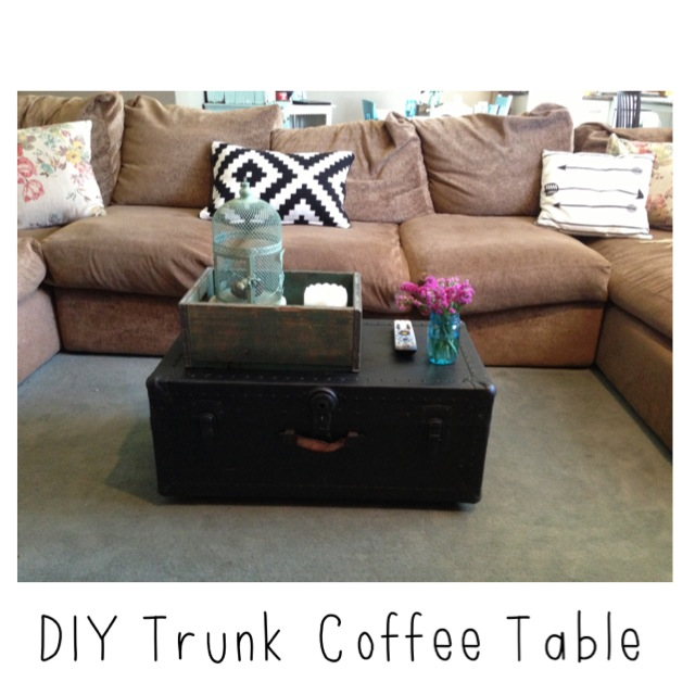 The Baeza Blog: DIY Trunk Coffee Table