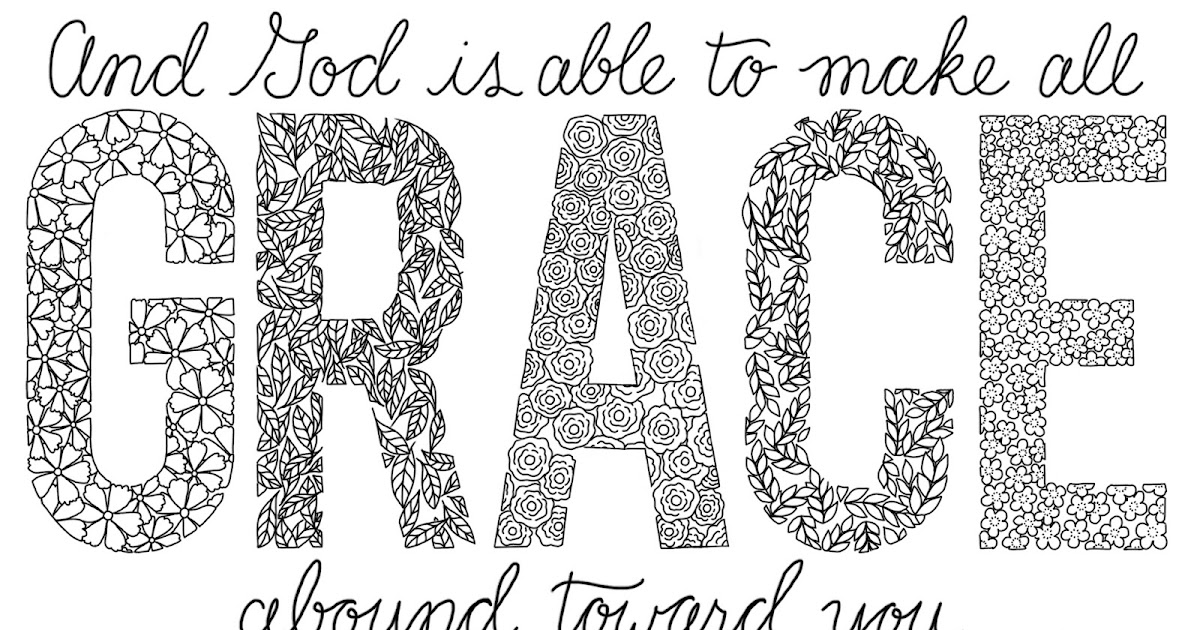 Just What I Squeeze In Grace Coloring Page 7