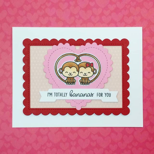 Sunny Studio Stamps: Love Monkey Customer Card Share by Katy