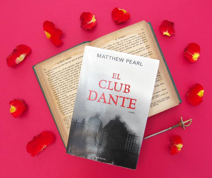El Club Dante, Matthew Pearl, Dante Alighieri, La Divina Comedia, pétalos de rosas, libros