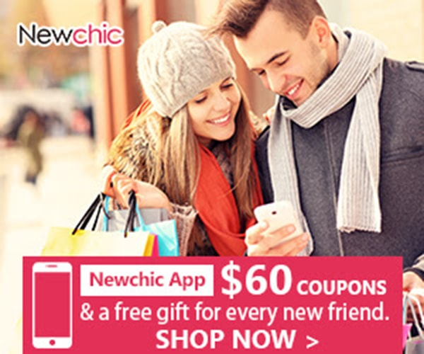 $60 Coupons & free gifts for Newchic App New Customers