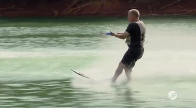 Gil Bates water skiing