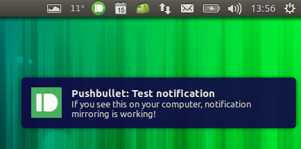 pushbullet desktop notification Unity