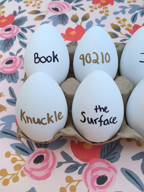 Easy Easter Egg Decorating - Crack them up with things that can crack on your eggs - Crack the code, Crack a Book -www.jacolynmurphy.com