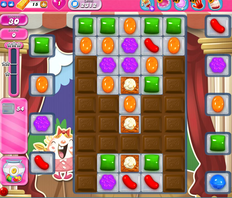 Candy Crush Saga level 2312