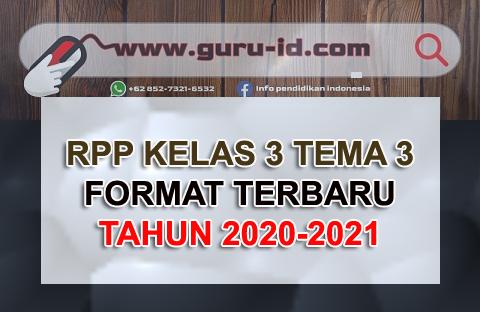 gambar RPP kelas 3 tema 3 Terbaru 2020