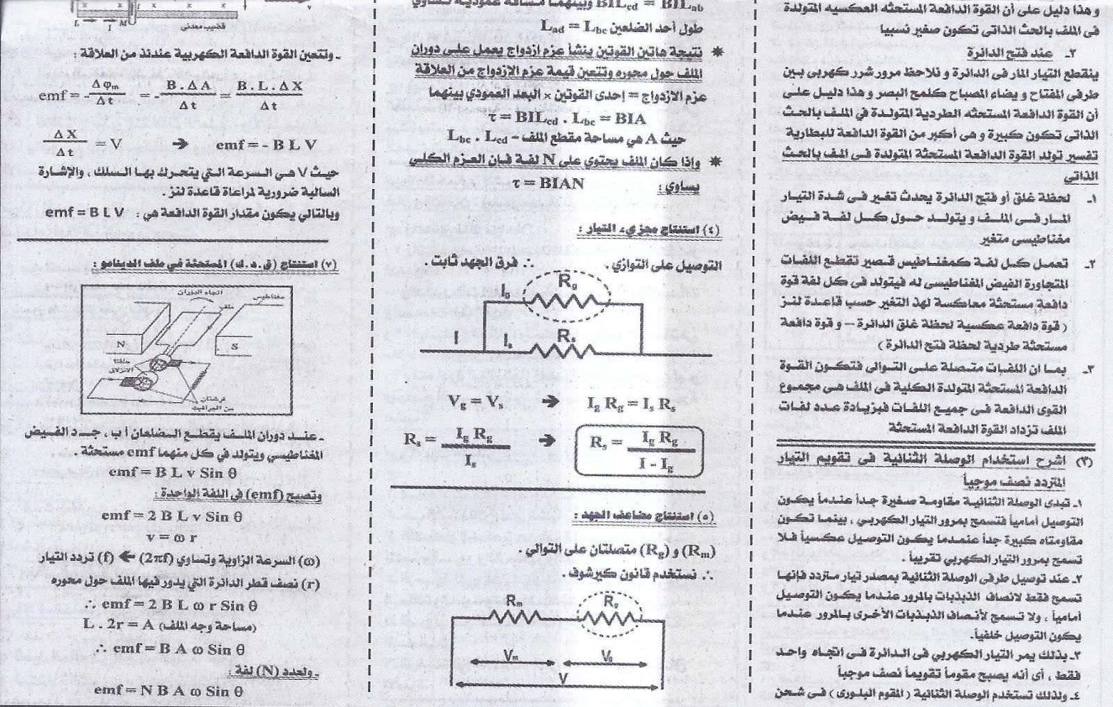 توقعات امتحان بكرة .. فيزياء ثانوية عامة 2016  10