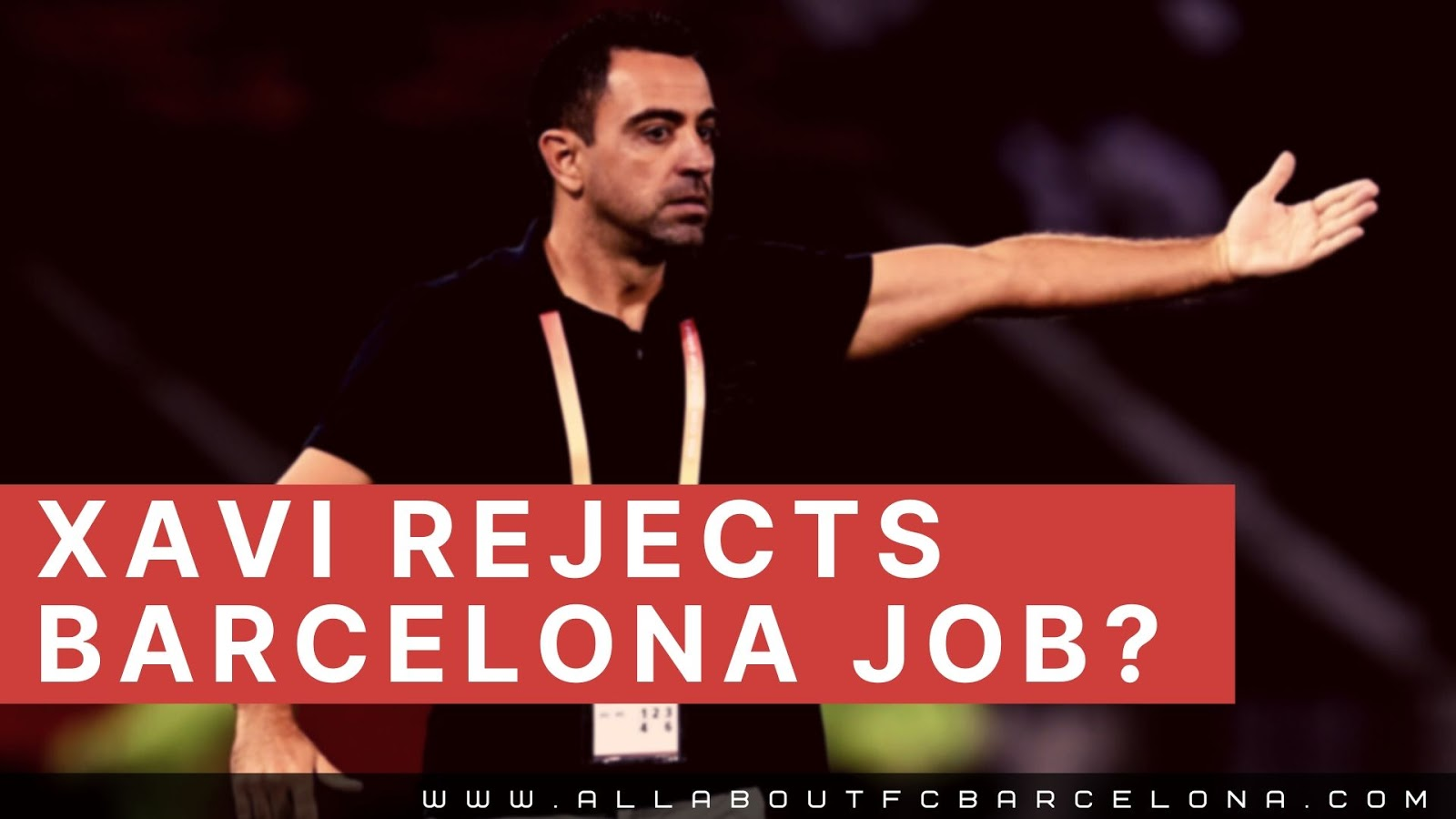 Xavi Says Not to Barca Job? May be Forever! #Barca #Xavi