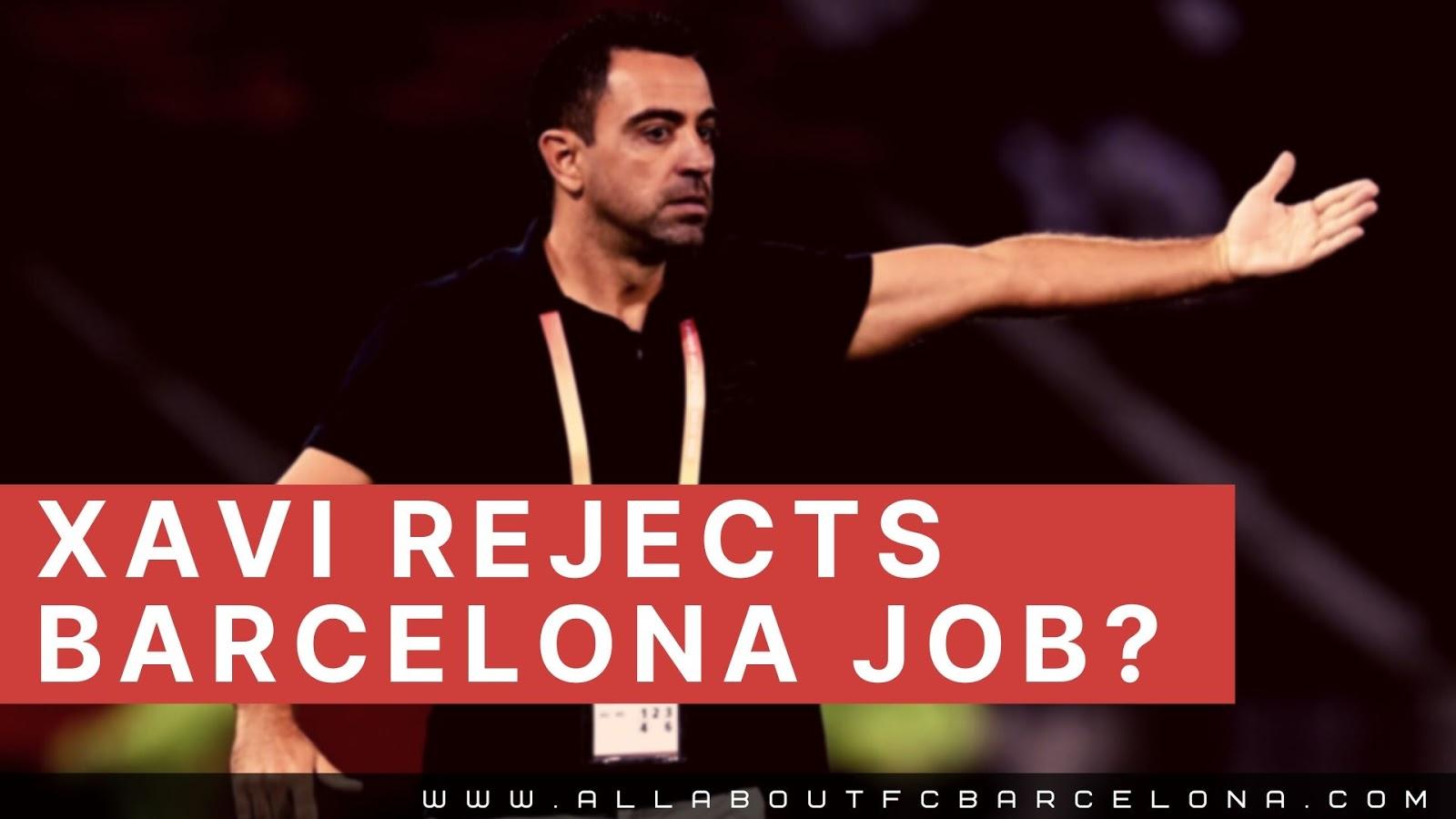 Xavi Says Not to Barca Job? May be Forever! #Barca #Xavi