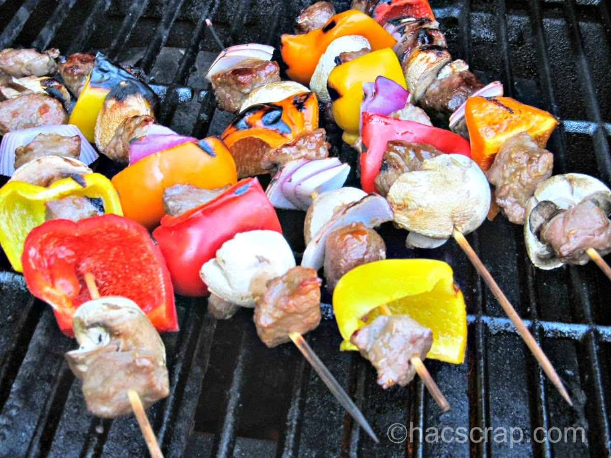 My Scraps | Beef Kabobs on the Grill