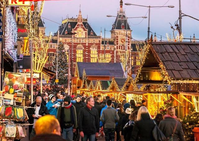 Mercadinhos de Natal em Amsterdã