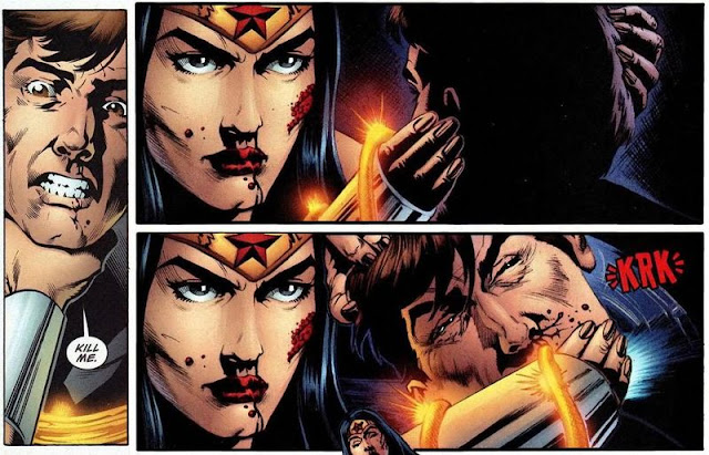 Wonder Woman asesina a Maxwell Lord
