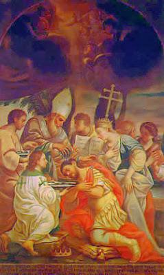 San Gregorio el Iluminador Bautizando a Tiridates III