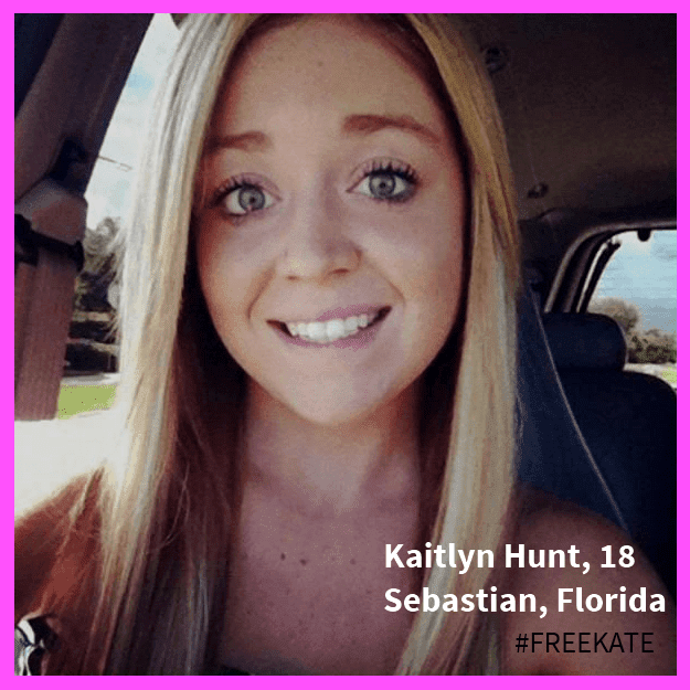 Florida teenager Kaitlyn Hunt, 18, was arrested because she fell in love.