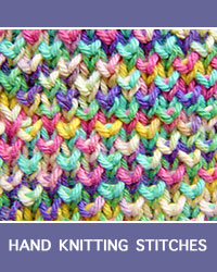 Learn Bee Brioche Pattern with our easy to follow instructions at HandKnittingStitches.com