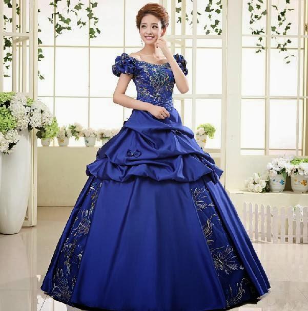 399e2b25d34c Princess Puff Sleeve Floor Length Ball Gown Wedding Dress :: My Gown ...