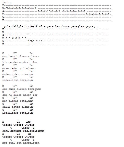 gitar akor tab ve videolu egitim