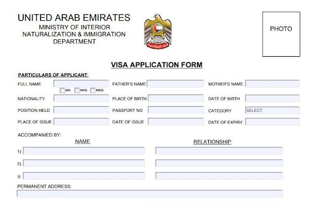 تطبيق فيزا دبي dubai visa application
