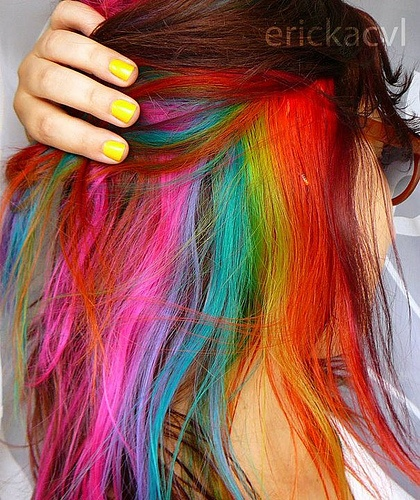 Multi Colored Hair Don T Care Images And Video Tutorials