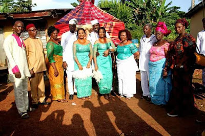 Photo of Twin Sisters Wed On The Same Day In Abia State