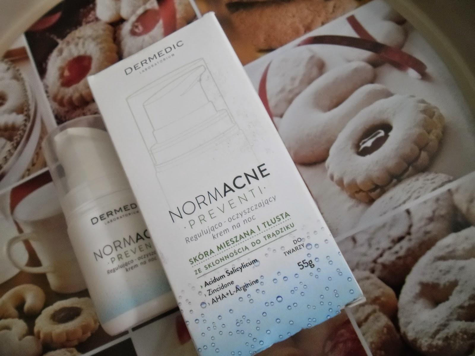 Dermedic regulująco-oczyszczający krem na noc do skóry mieszanej i tlustej