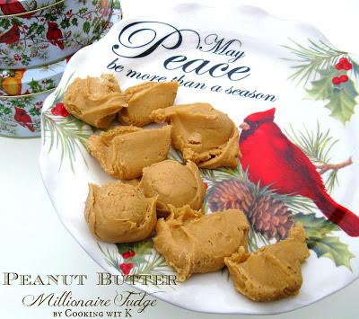 Decadent Peanut Butter Millionaire Fudge